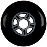 100mm 88a Scooter Wheel Black/Silver 5 Spoke Hub