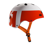 661 Dirt Lid Helmet White/Orange Certified OSFA