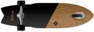 """Street Surfing Shark Attack Caster Longboard Koa Black 36"""""""