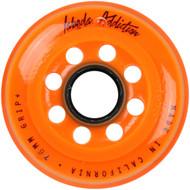 Labeda Hockey Wheel Addiction Grip+ Orange 76mm