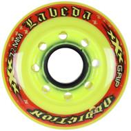 Labeda Hockey Wheel Addiction XXX Grip Yellow/Red 72mm