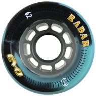 Quad Skate Wheel Radar Evo Black Blue Swirl 62mm x 44mm 91a