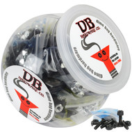 """Dime Bag Hardware - 50 sets 7/8"""" Phillips Black"""
