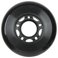 Inline Wheel 70mm x 24mm Black