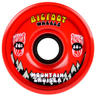 Bigfoot Wheel - 76mm 80a Mountain Cruisers Translucent Red
