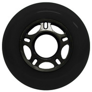 Inline Wheel - Black / Black 76mm 89a