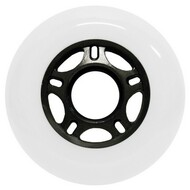 Inline Wheel - White / Black 76mm 89a
