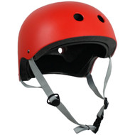 Krown Adult Solid Helmet OSFA Red