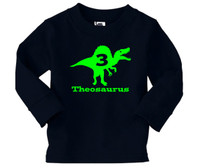Dino Trex birthday long sleeve tshirt