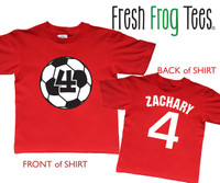 soccer ball birthday shirt personalized