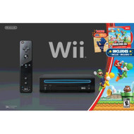 Wii Black Console With New Super Mario Brothers Wii And Music CD - ZZ675769