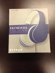 Purple Fatheads Folding Stereo Headphones Earphones Purple - EE680419
