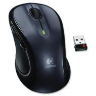 Logitech M510 Mouse Laser Wireless Gray Black USB Scroll Wheel - ZZ681062