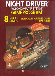 2600 Game Cartridge Night Driver For Atari Vintage - EE686849