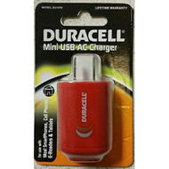 Mini USB AC Charger Red-Duracell Wall DU1676 - EE692194