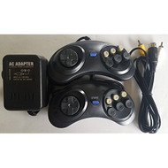 AC Adapter Power Cable Cord With AV Cable 2 Controller Pads For Sega - ZZ699649