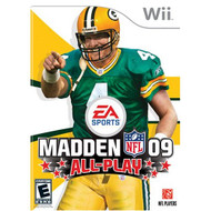 Madden NFL 09 All-Play For Wii Football With Manual And Case - EE700317