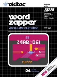 Word Zapper US Games Vidtec 2600 Game Cartridge! For Atari Vintage - EE701270