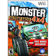 Monster 4X4 Stunt Racer With Wheel For Wii Racing With Manual and Case - EE701408