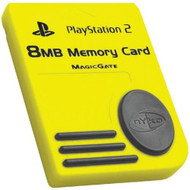 8MB Memory Card Yellow For PlayStation 2 PS2 Expansion PS80516 - EE702859