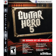 Guitar Hero 5 Stand Alone Software Game Only For PlayStation 3 PS3 - EE703395