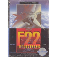 F-22 Interceptor For Sega Genesis Vintage Flight - EE707393