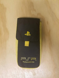 Yellow And Black Nylon Carry Pouch For PSP  - EE707927