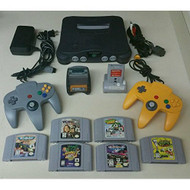 Nintendo 64 N64 Bundle With 2 Controllers Transfer Pack Tremor Pack - ZZ707936
