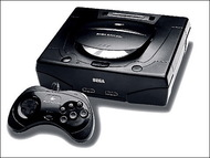 Sega Saturn System Video Game Console Black Home - EE708024