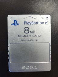 Sony OEM 8 MB Memory Card Silver PS2 Expansion For PlayStation 2 MLN97 - EE708087