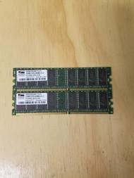 2X 256MB RAM Promos Technologies PC3200U 400MHZ DDR1 SDRAM - EE708640