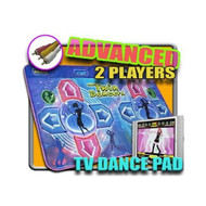 DDR Game TV Plug-N-Play Blue Advanced Two-Player Dance Pad No Consoles - EE709276