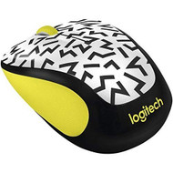 Logitech M325C Wireless Mouse Yellow Zigzag 910-004689 White Mini DLX3 - EE711541