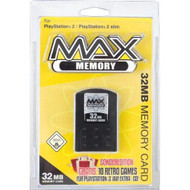 Datel Max Memory 32 MB Sony Memory Card Black For PlayStation 2 PS2 - EE711823