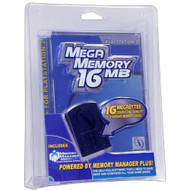 Mega Memory Card 16 Meg For PlayStation 2 PS2 Black - EE714022