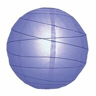 "WeGlow International 8"" Astro Blue Free-Style Ribbed Paper Lantern Set - DD629673"