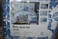 Victoria Classics Jordin 5-PC Quilt Set King Multi-Color JRN-5QT-KING - EE524695