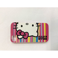 Hello Kitty Hardshell Case For iPhone 4/4S White/Red Stripes Cover - EE541151