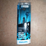 Philips SHE3905BL In Ear Headphones With Mic SHE3905 Blue - EE591127