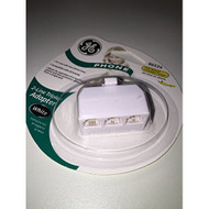 GE 2-line Triplex Adapter 86534 White Telephone - EE534522