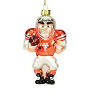 Texas Glass Football Player Ornament  - EE565811