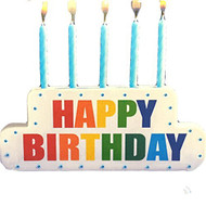 Spritz Lighted Happy Birthday Cake Topper And Candle Holder - DD630503