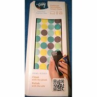 Toddy Dual-Sided Plush Silk Cleaning Cloth 5 X 7 Multi-Colored Circles - EE565440