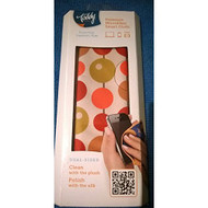 Toddy Dual-Sided Plush Silk Cleaning Cloth 5 X 7 Tan Circles Case - EE565158