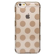 AGENT18 iPhone 6 / iPhone 6S Case Slimshield Clear / Gold Dots Cover - DD607281