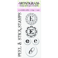 "Peel & Stick Gigi E"" Monogram Stamps - DD634389"
