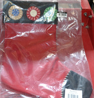 Multi Penny 11 X 15 Inch Christmas Stocking Red - EE469115