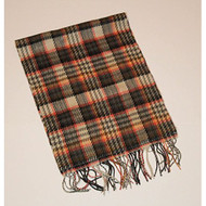 Softer Than Cashmere Tan And Pink Plaid Scarf Multi-Color - EE471594