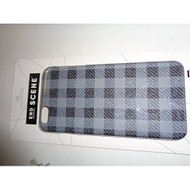 End Scene iPhone 6 Plus Black And Grey Plaid Case Cover Gray Fitted - DD570091
