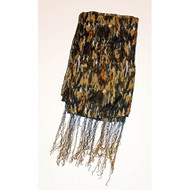 Patterned Fashion Scarf Earth Tone Beige Brown - EE471603